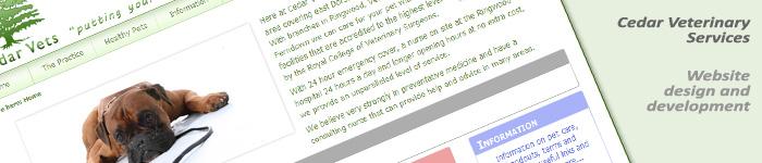 Cedar Vets website